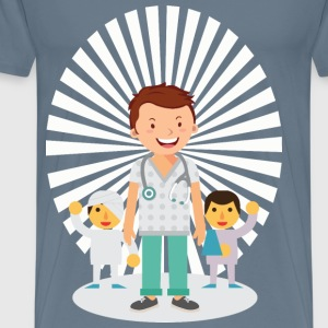 Doctor And Patients - Men's Premium T-Shirt