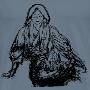 Sketch of Woman Sitting - Men's Premium T-Shirt