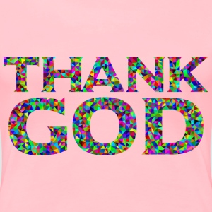 Prismatic Low Poly Thank GOD - Women's Premium T-Shirt