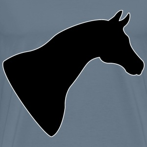 Horse Head Silhouette - Men's Premium T-Shirt