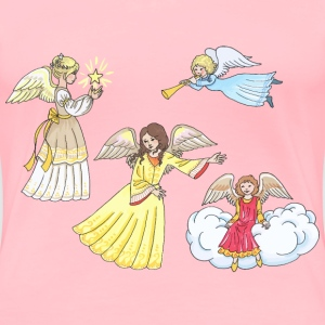 Four Female Angels - Women's Premium T-Shirt