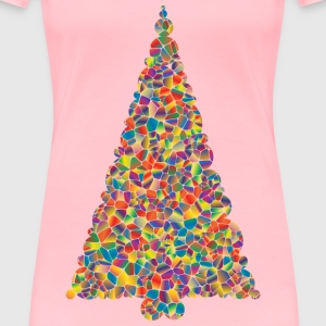Polyprismatic Tiled Christmas Tree - Women's Premium T-Shirt