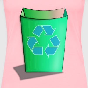 Green Recycle Bin - Women's Premium T-Shirt