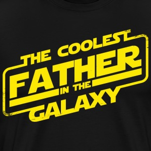 The Coolest Father Galaxy - Father's Day Shirt  - Men's Premium T-Shirt