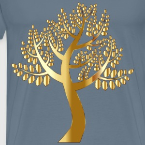 Simple Gold Tree Without Background - Men's Premium T-Shirt