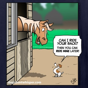 Jack Russell Terrier & Horse cartoon - kids - Kids' T-Shirt
