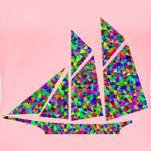 Prismatic Low Poly Sailboat - Women's Premium T-Shirt