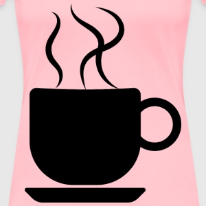 Coffee Cup Silhouette Optimized - Women's Premium T-Shirt