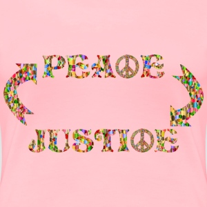 Peace 2 Justice 2 Peace No Background - Women's Premium T-Shirt