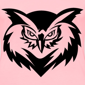 Stylized Owl Face Line Art - Women's Premium T-Shirt