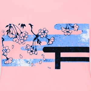 Half Torii and Sakura - Women's Premium T-Shirt