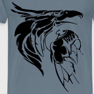 Eagle Head Line Art Inverse - Men's Premium T-Shirt