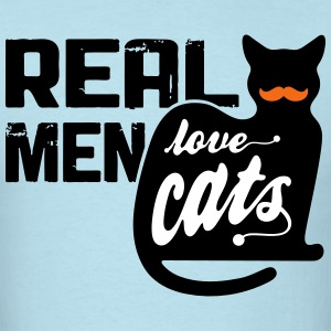 Real Men Love Cats - Men's T-Shirt