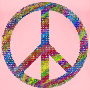 Psychedelic Prismatic Peace Sign - Women's Premium T-Shirt
