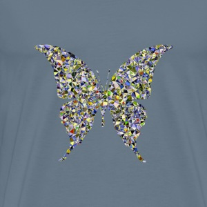 Psychedelic Butterfly Silhouette 6 - Men's Premium T-Shirt