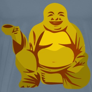 Buddha with cup - Men's Premium T-Shirt
