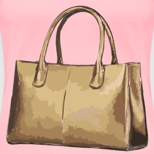 Tan Leather Handbag No Logo - Women's Premium T-Shirt