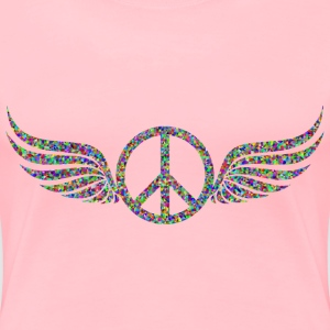 Prismatic Low Poly Peace Sign Wings - Women's Premium T-Shirt
