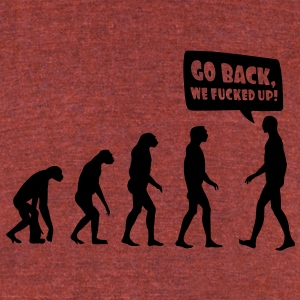 evolution fucked up T-Shirts - Unisex Tri-Blend T-Shirt