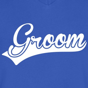 Groom T-Shirts - Men's V-Neck T-Shirt by Canvas
