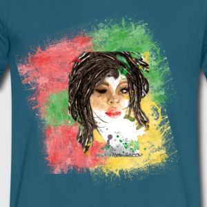 Rasta Girl Men's V-Neck T-Shirt by Canvas - Men's V-Neck T-Shirt by Canvas