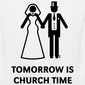 Tomorrow Is Church Time! (Stag Party / Hen Night) Sportswear - Men's Premium Tank