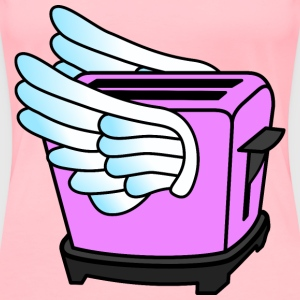 Pink Flying Toaster - Women's Premium T-Shirt
