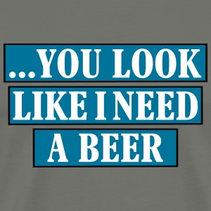 i need a beer_vec_3 us T-Shirts - Men's Premium T-Shirt