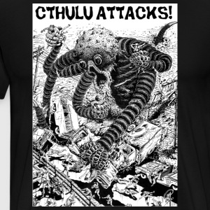 Cthulu Attacks! - Men's Premium T-Shirt