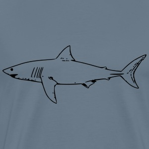 white shark - Men's Premium T-Shirt