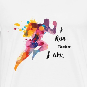 Awesome Gift for Runnsers: I Run Therefore I am T-Shirts - Men's Premium T-Shirt