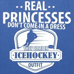 Icehockey Real Princesses  Bags & backpacks - Tote Bag