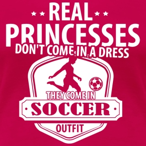 Soccer Real Princesses T-Shirts - Women's Premium T-Shirt