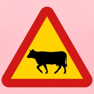Warning Cows Roadsign - Women's Premium T-Shirt