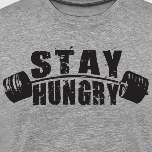 Stay Hungry - Barbell T-Shirts - Men's Premium T-Shirt