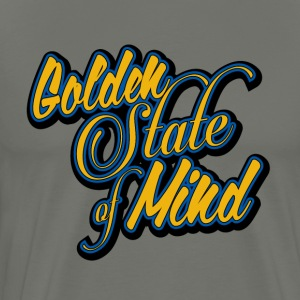 Golden State of Mind Scropt - Men's Premium T-Shirt