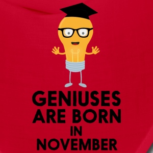 Geniuses are born in NOVEMBER Sbv9r Caps - Bandana