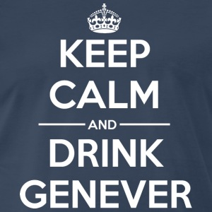 Drinks Keep calm Genever T-Shirts - Men's Premium T-Shirt