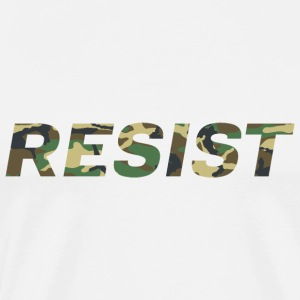 Resist Woodland Camo - Men's Premium T-Shirt