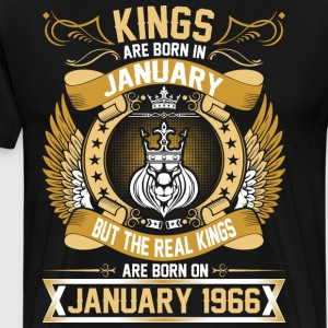 The Real Kings Are Born On January 1966 T-Shirts - Men's Premium T-Shirt