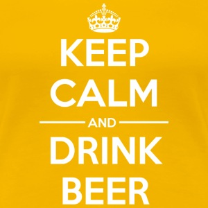 Drinks Keep calm Beer T-Shirts - Women's Premium T-Shirt