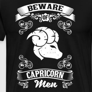 Beware of Capricorn Men Zodiac Astrology T-Shirt T-Shirts - Men's Premium T-Shirt