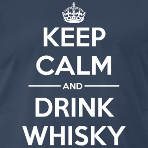 Drinks Keep calm Whisky T-Shirts - Men's Premium T-Shirt
