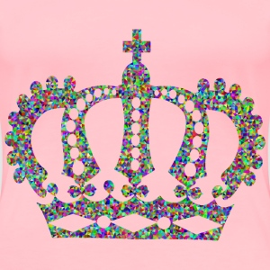 Low Poly Prismatic Royal Crown - Women's Premium T-Shirt