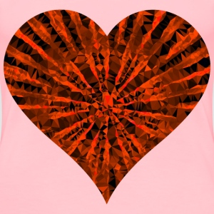 Low Poly Shattered Heart Red - Women's Premium T-Shirt