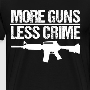 More Guns Less Crime Second Amendment Firearms  T-Shirts - Men's Premium T-Shirt