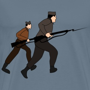 Charging soldiers - Men's Premium T-Shirt