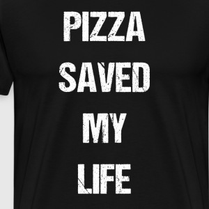 Pizza Saved My Life Italian Foodie T-Shirts T-Shirts - Men's Premium T-Shirt