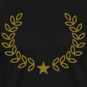 Champion Wreath, Star, Winner, Team, Number One T-Shirts - Men's Premium T-Shirt
