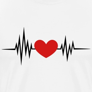 I Love You Heartbeat, Pulse, Heart, Valentines Day T-Shirts - Men's Premium T-Shirt
